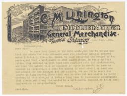 C. M. Linington. Letter - Recto