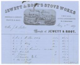 Jewett & Root. Bill - Recto