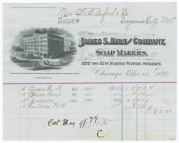 James S. Kirk and Company. Bill - Recto