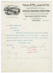 Chas. P. Willard & Co.. Bill - Recto