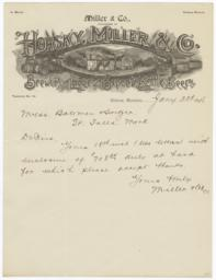 Miller & Co.. Letter - Recto