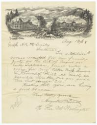 Anderson & Price. Letter - Recto