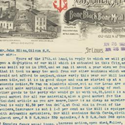 A. B. Mayer M'f'g Co.. Letter