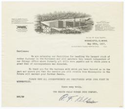 Beacon Falls Rubber Shoe Co.. Letter - Recto