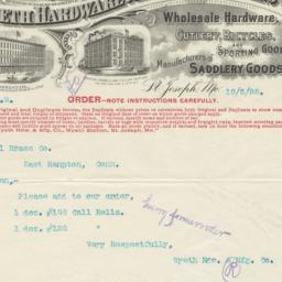 Wyeth Hardware & Manufactur...
