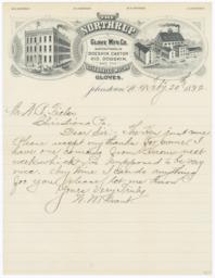Northrup Glove M'f'g. Co.. Letter - Recto