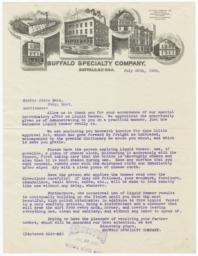 Buffalo Specialty Company. Letter - Recto
