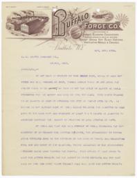 Buffalo Forge Co.. Letter - Recto