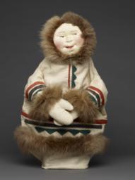 Eskimo Hand Puppet With Fur Trim