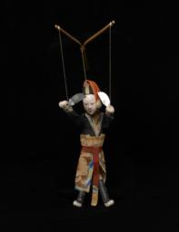 Chinese Jigging Puppet Of Male With Pink-white Face