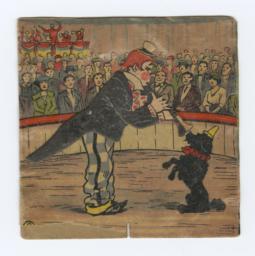 Clown Musician And Dog Pantin