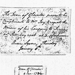 Document, 1784 January 08