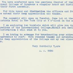 Letter: 1937 May 8