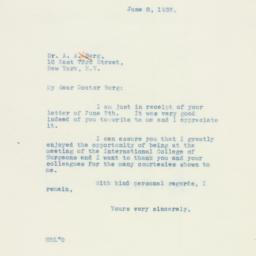 Letter: 1937 June 8