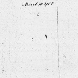 Document, 1785 March 18