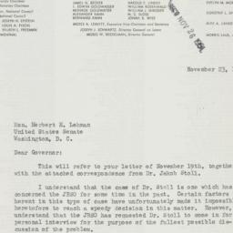 Letter: 1951 November 23