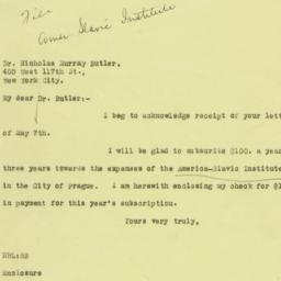 Letter: 1926 May 11
