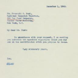 Letter: 1942 December 1