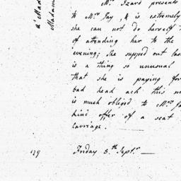 Document, 1782 September 05