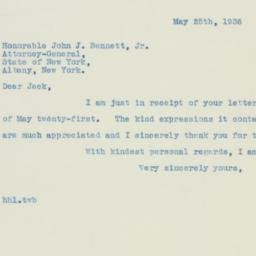Letter: 1936 May 25