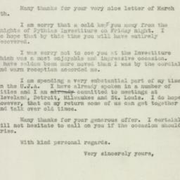 Letter: 1947 March 10