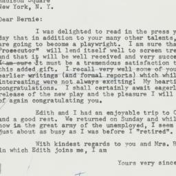 Letter: 1957 March 13