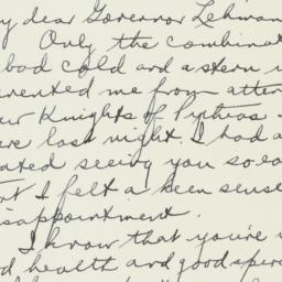 Letter: 1947 March 8