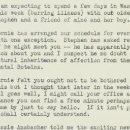 Letter: 1952 March 23