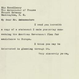 Letter: 1947 July 1