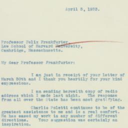 Letter: 1933 April 3