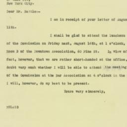 Letter: 1925 August 13
