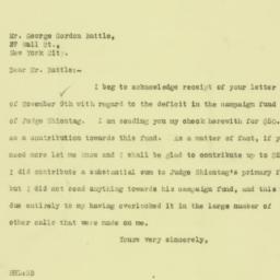 Letter: 1925 November 10