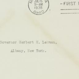 Envelope: 1938 July 15