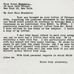 Letter: 1945 March 5