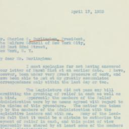 Letter: 1933 April 17