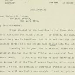 Letter: 1933 December 26