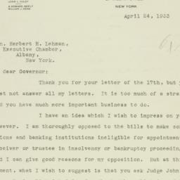 Letter: 1933 April 24