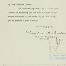 Letter: 1933 August 18