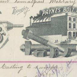 Payne's Bolt Works. Bill