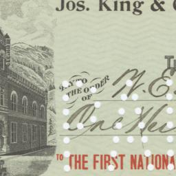 First National Bank. Check