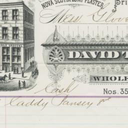David Trubee & Co.. Bill