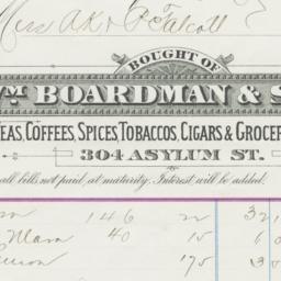 Wm. Boardman & Sons. Bill