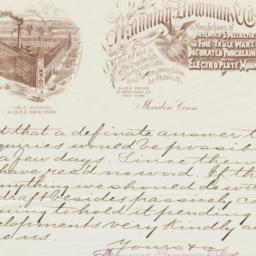 Manning, Bowman & Co.. Letter