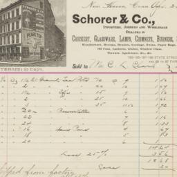Schorer & Co.. Bill