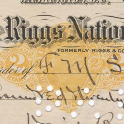 Riggs National Bank. Check