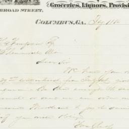 J. & J. Kaufman. Letter
