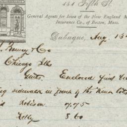 Duncan & Waller. Letter