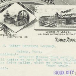 Sioux City Engine Works. Bill