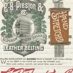 E. B. Preston & Co.. Letter