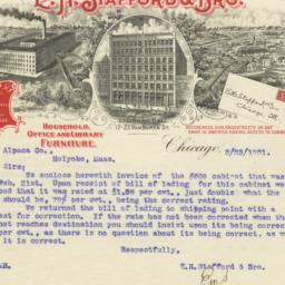 E. H. Stafford & Bro.. Letter